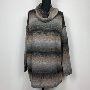 Christopher & Banks Marled Cowl Neck Sweater